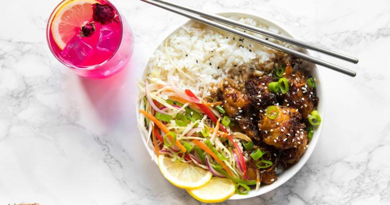 Vegan Sticky Asian Glazed Chkn